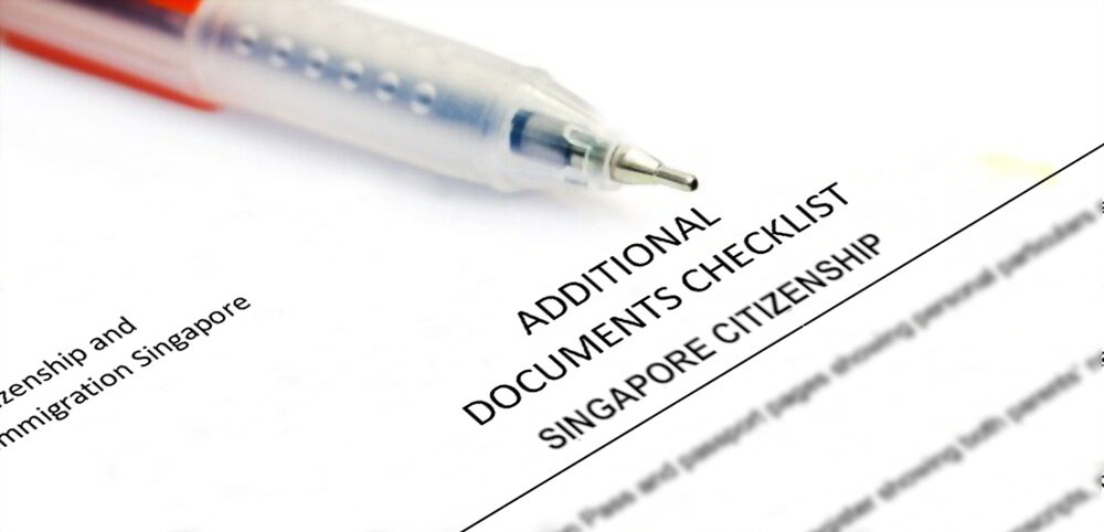 申请新加坡公民额外附加文件